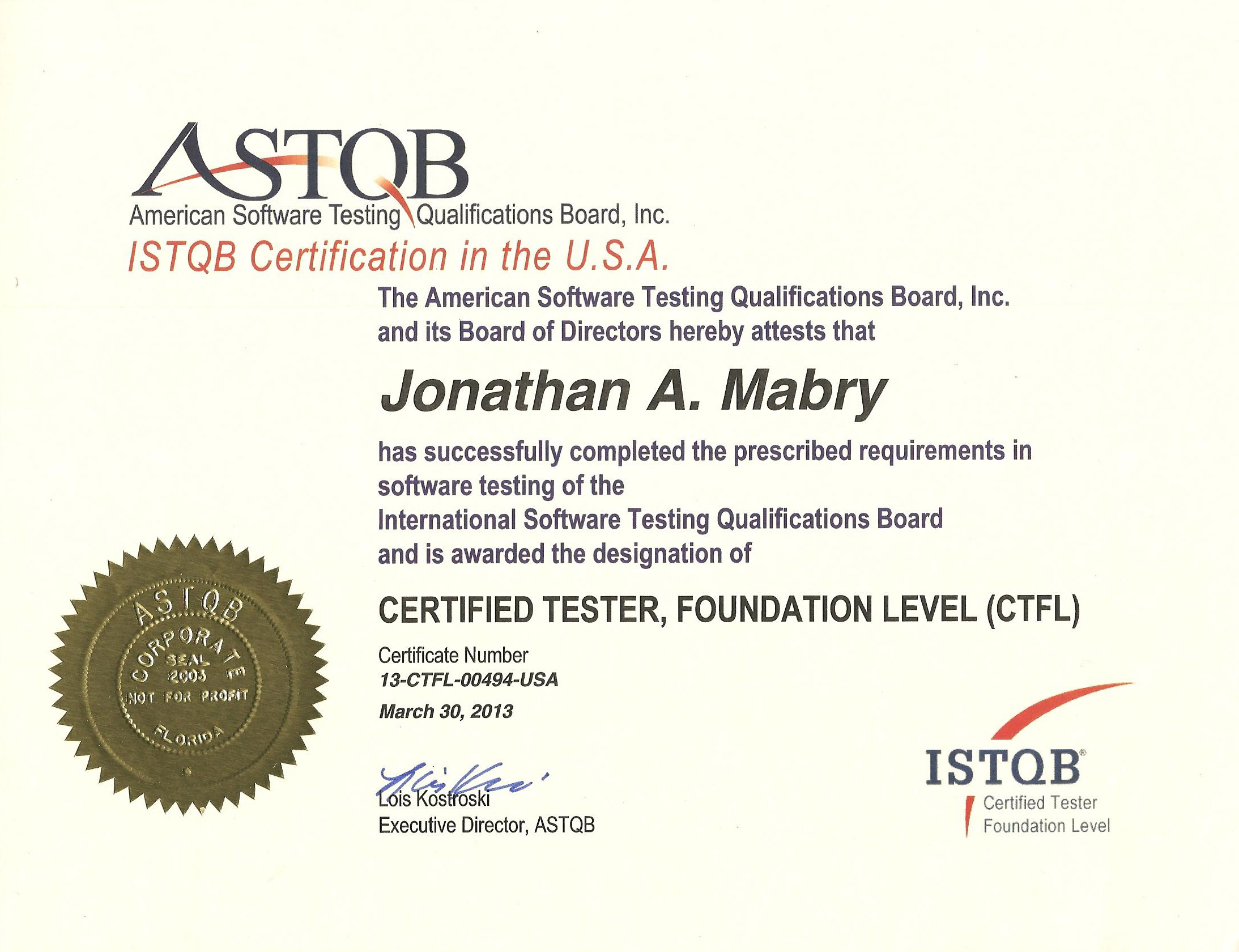 Certifications j mabry astqb cert image 1betcityfo Image collections